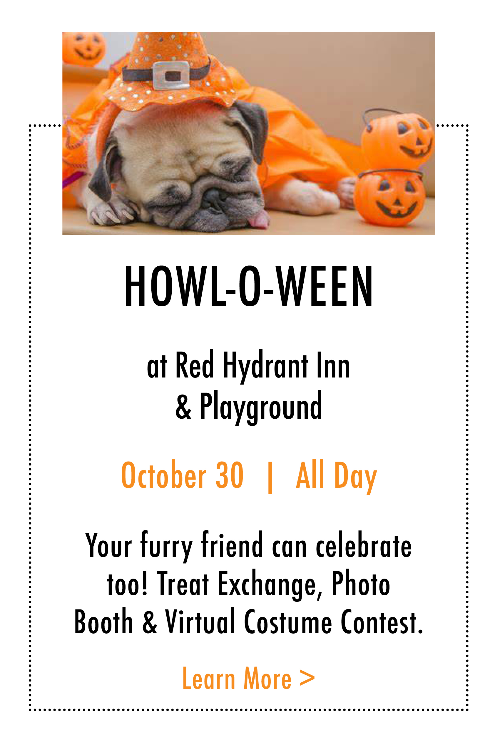 Howl-o-Ween at Red Hydrant Inn and Playground