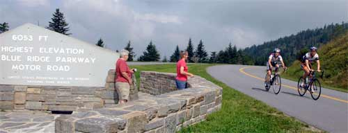 Blue Ridge Parkway Riders at Highest Point