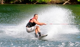 Water skiing in Jackson County lakes