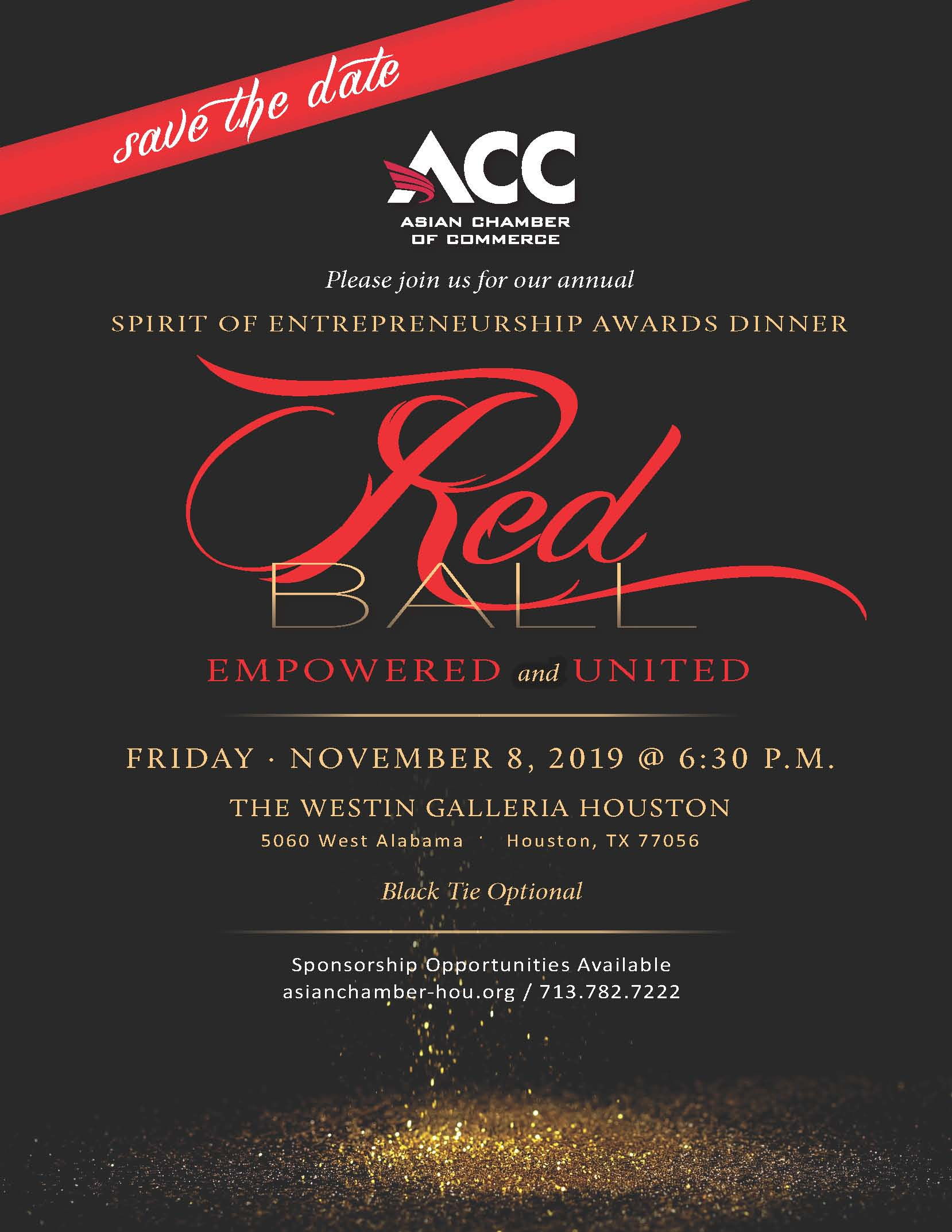 SAVE THE DATE - RED BALL AWARD BANQUET