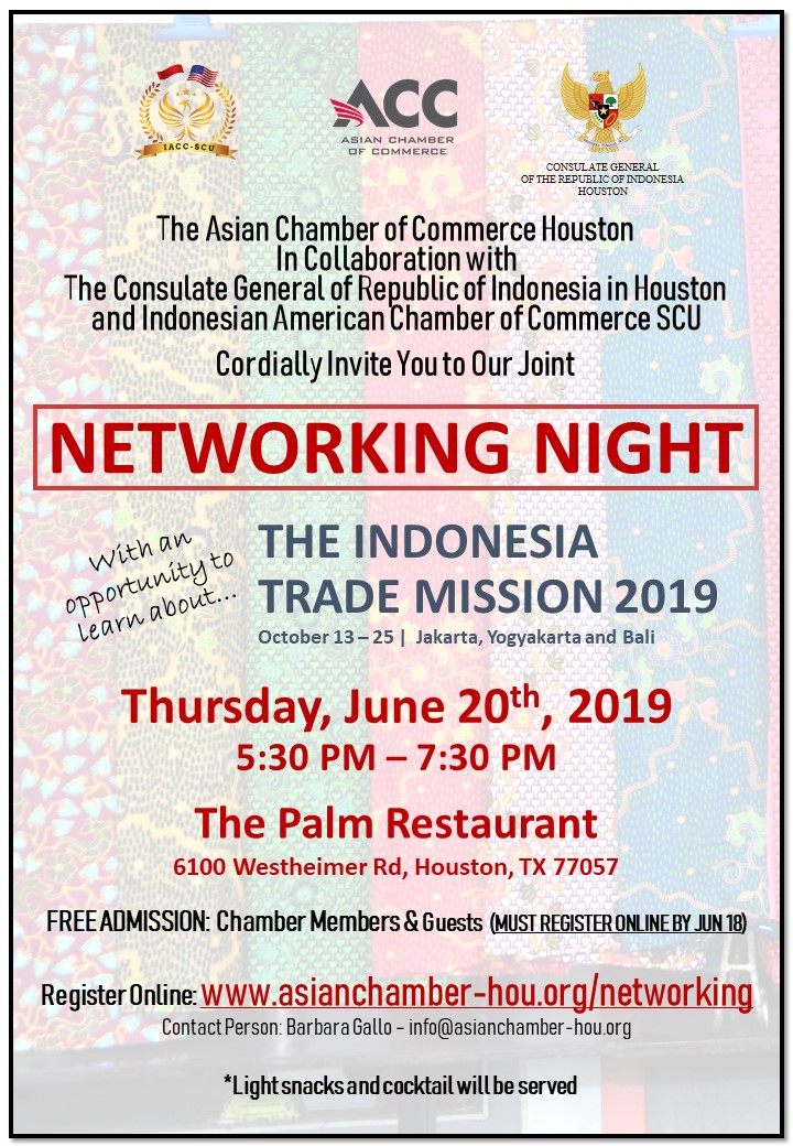 June 2019 Network Night at the Palm Restaurant