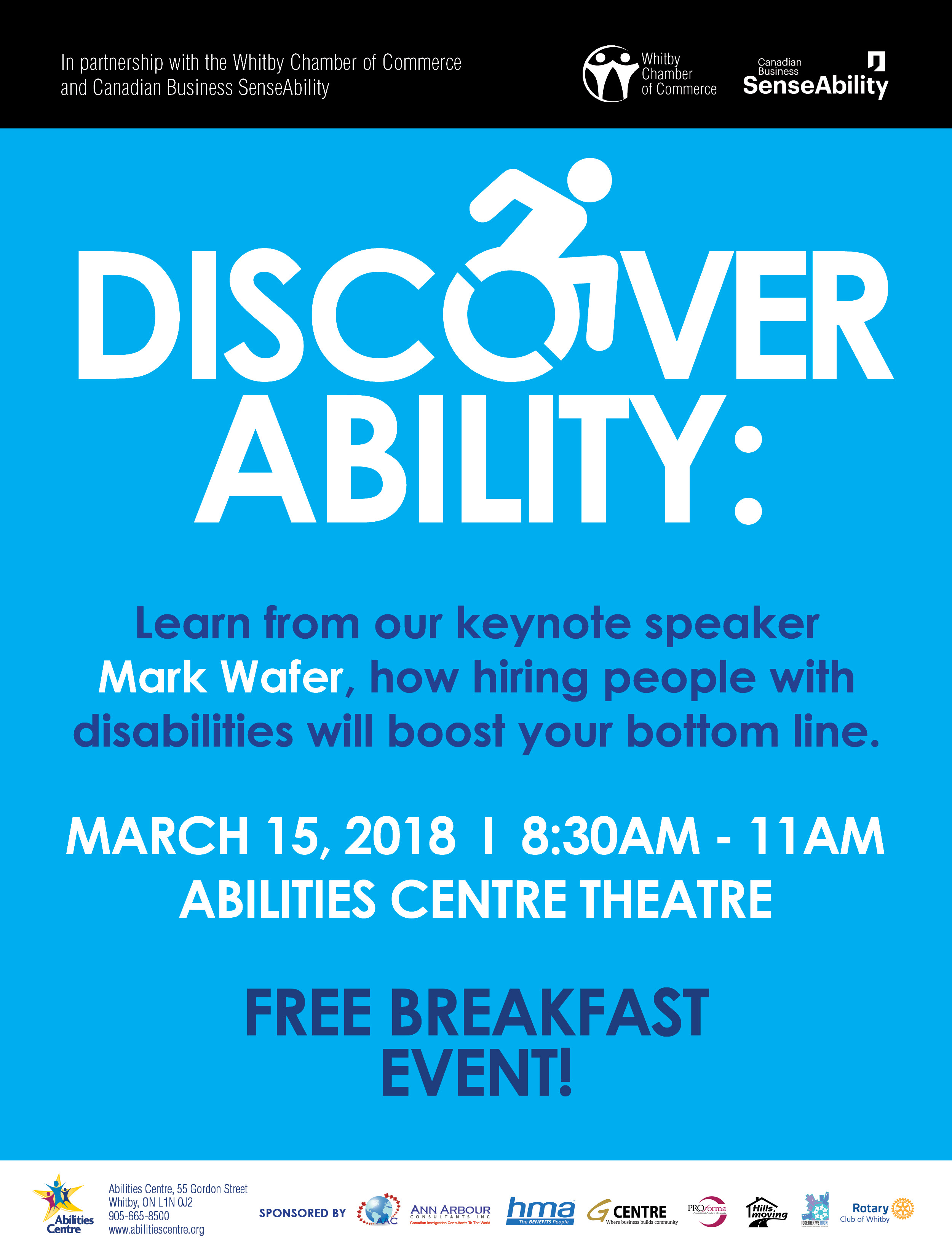Learn from keynote speaker, Mark Wafer, at free breakfast event on March 15.