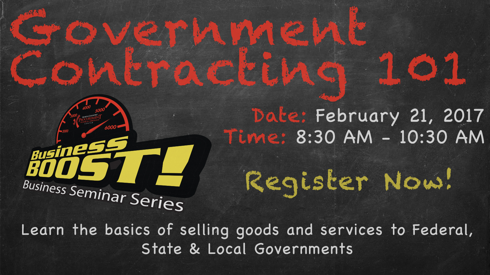 Government Contracting 101 Feb 21 2017 Gwnc Chamber