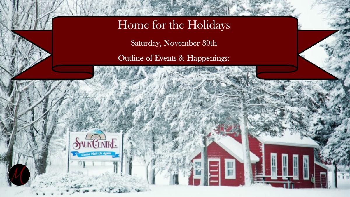 Home for the Holidays - Nov. 30th