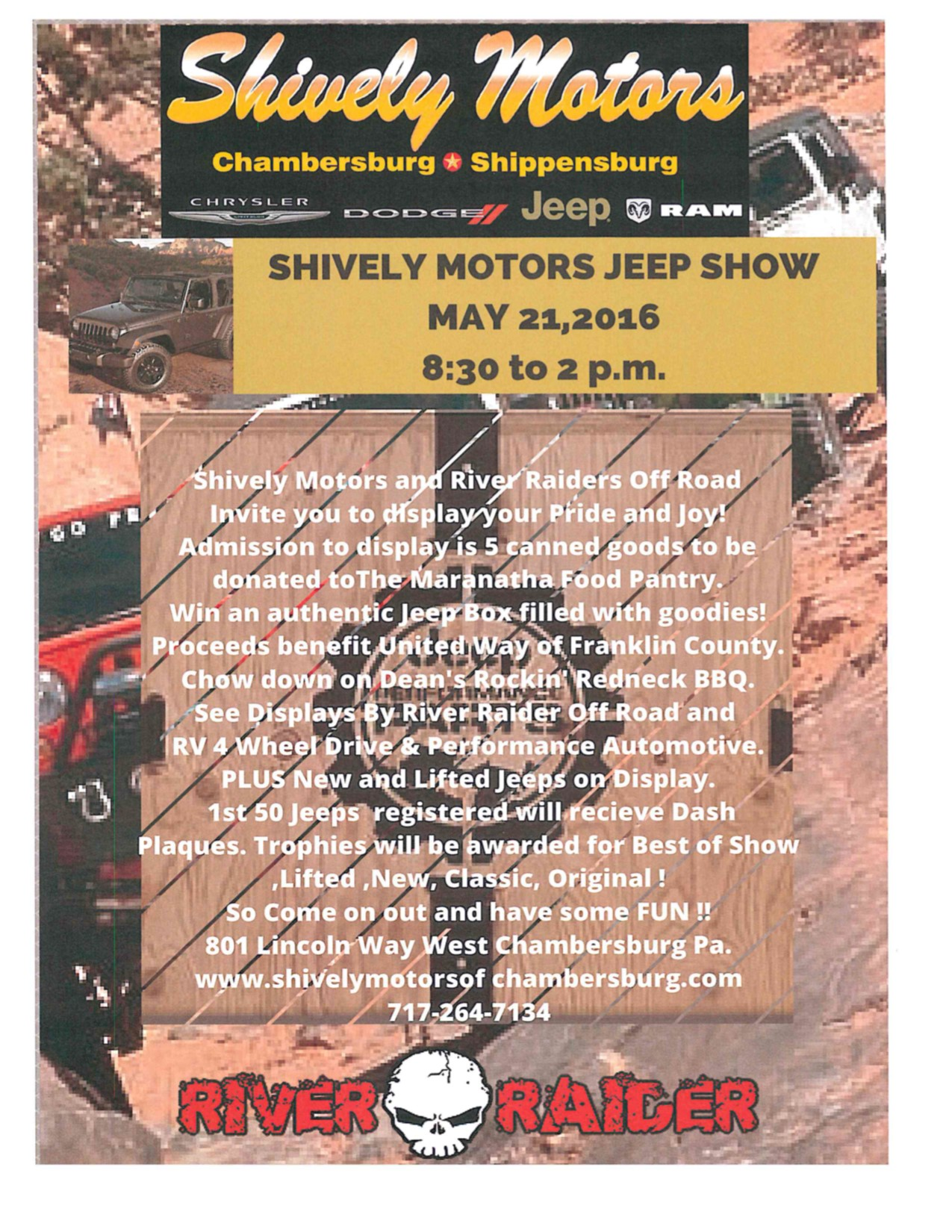 shively motors jeep show may 21 2016 chambersburg