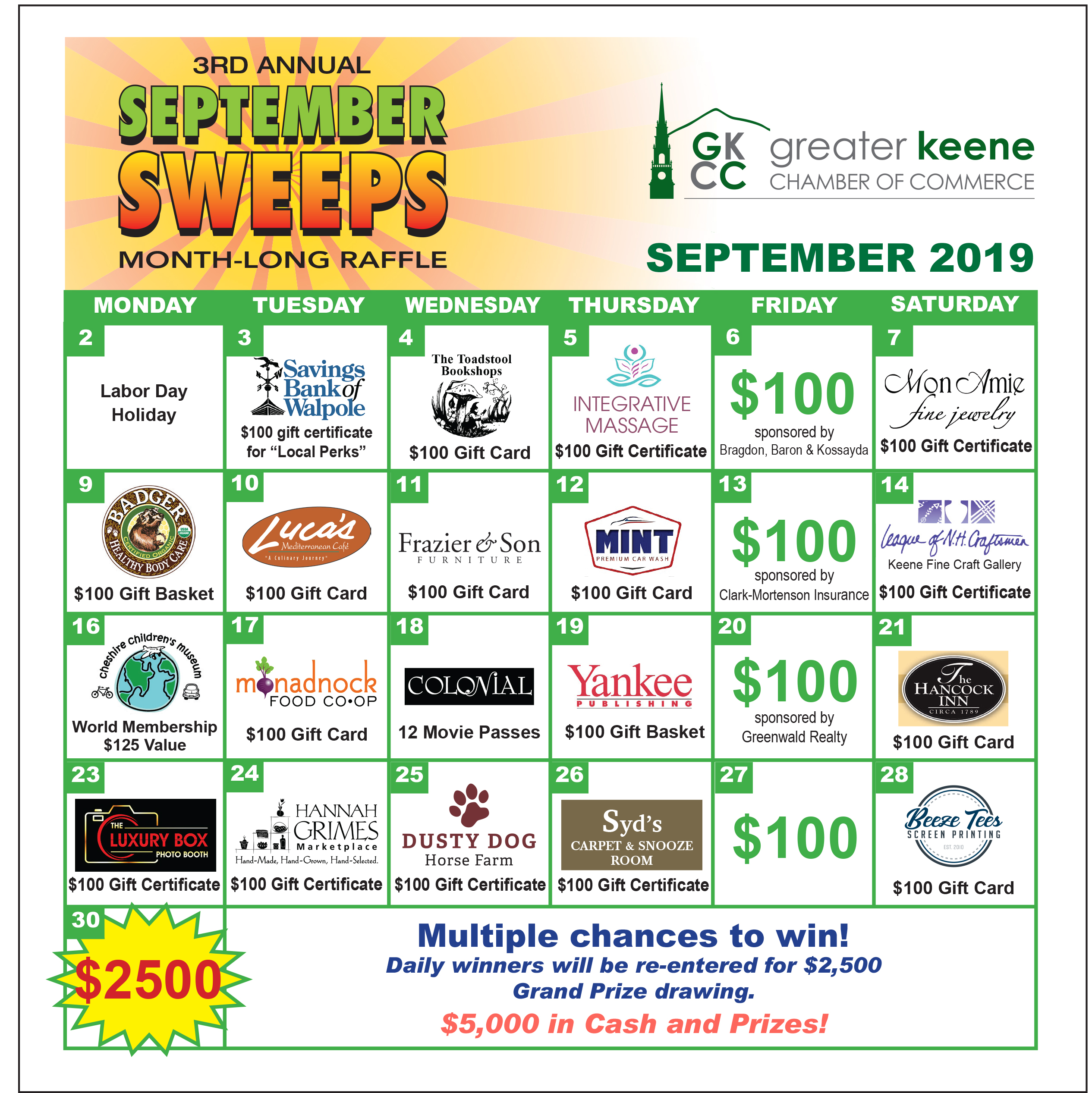 September Sweeps! Spotlight on Local & Small Business Month