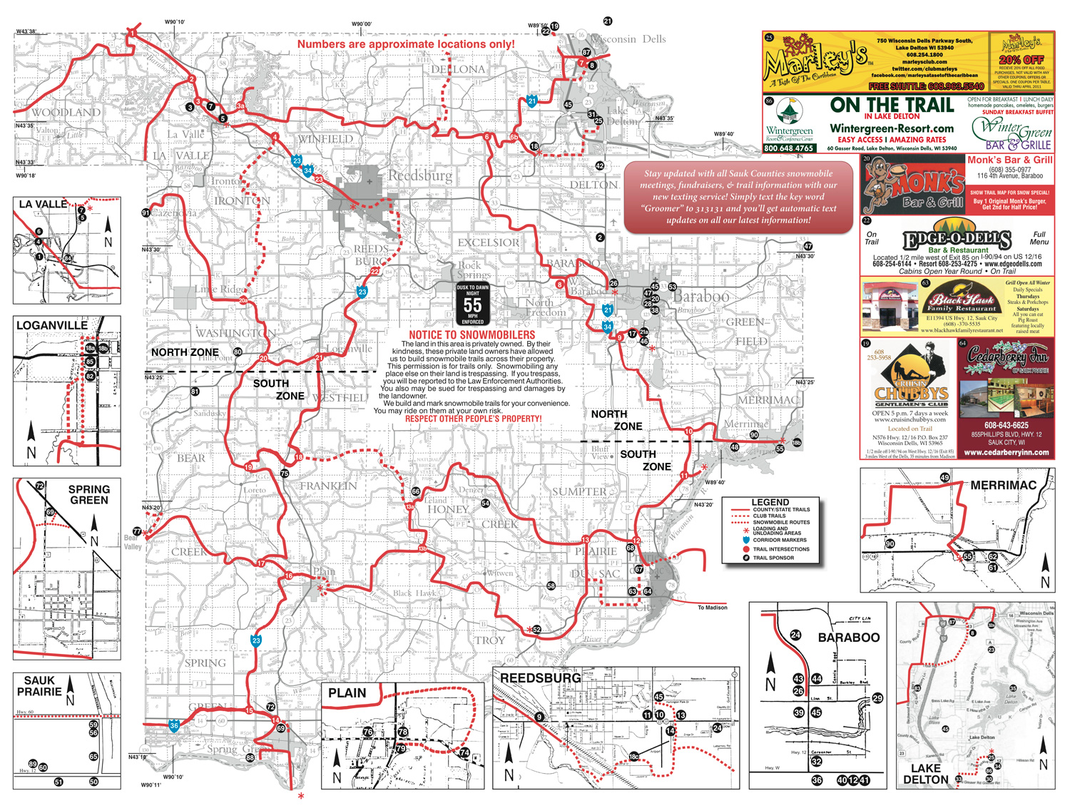 Sauk County Snowmobile Trails