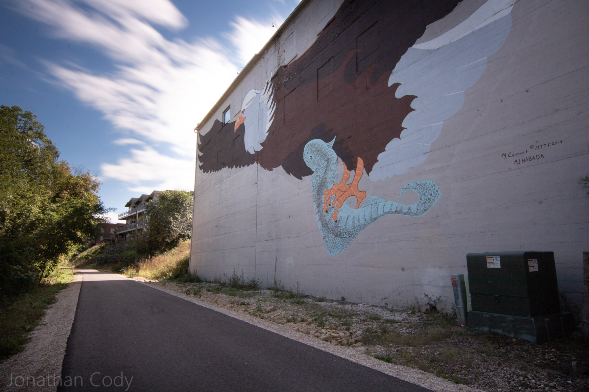 Eagle Mural on the Great Sauk State Trail