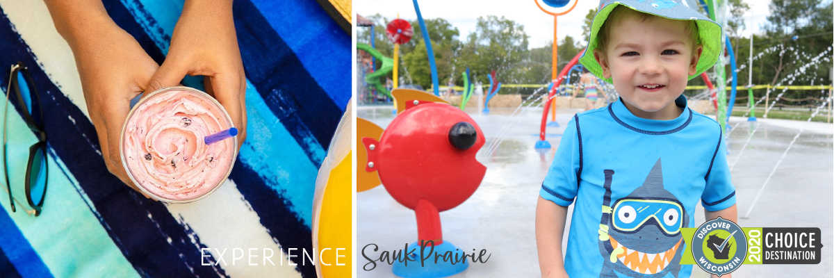 Ice Cream & Splash Pad - Experience Sauk Prairie