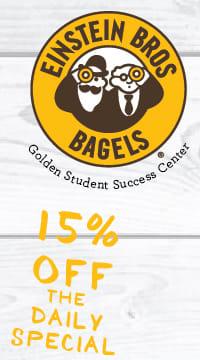 Einstein's Specials 15 % off