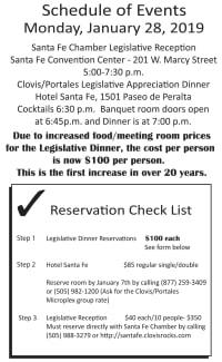 Legislative Appreciation Dinner Jan. 28