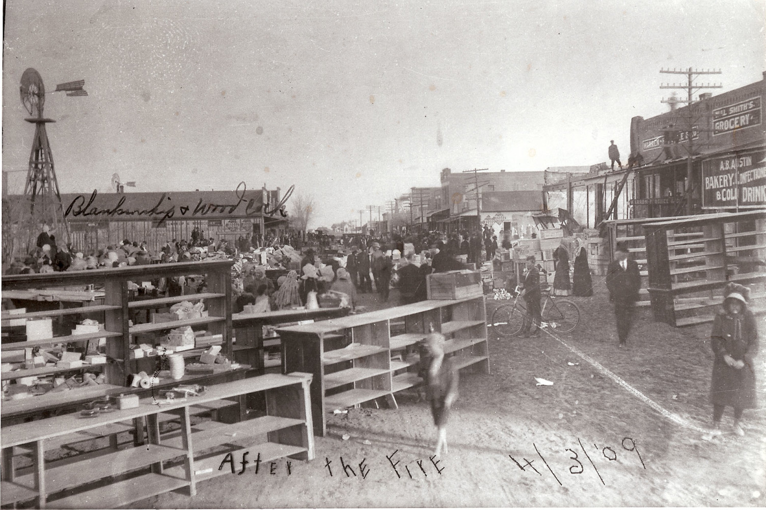 Downtown Fire 1909 Image