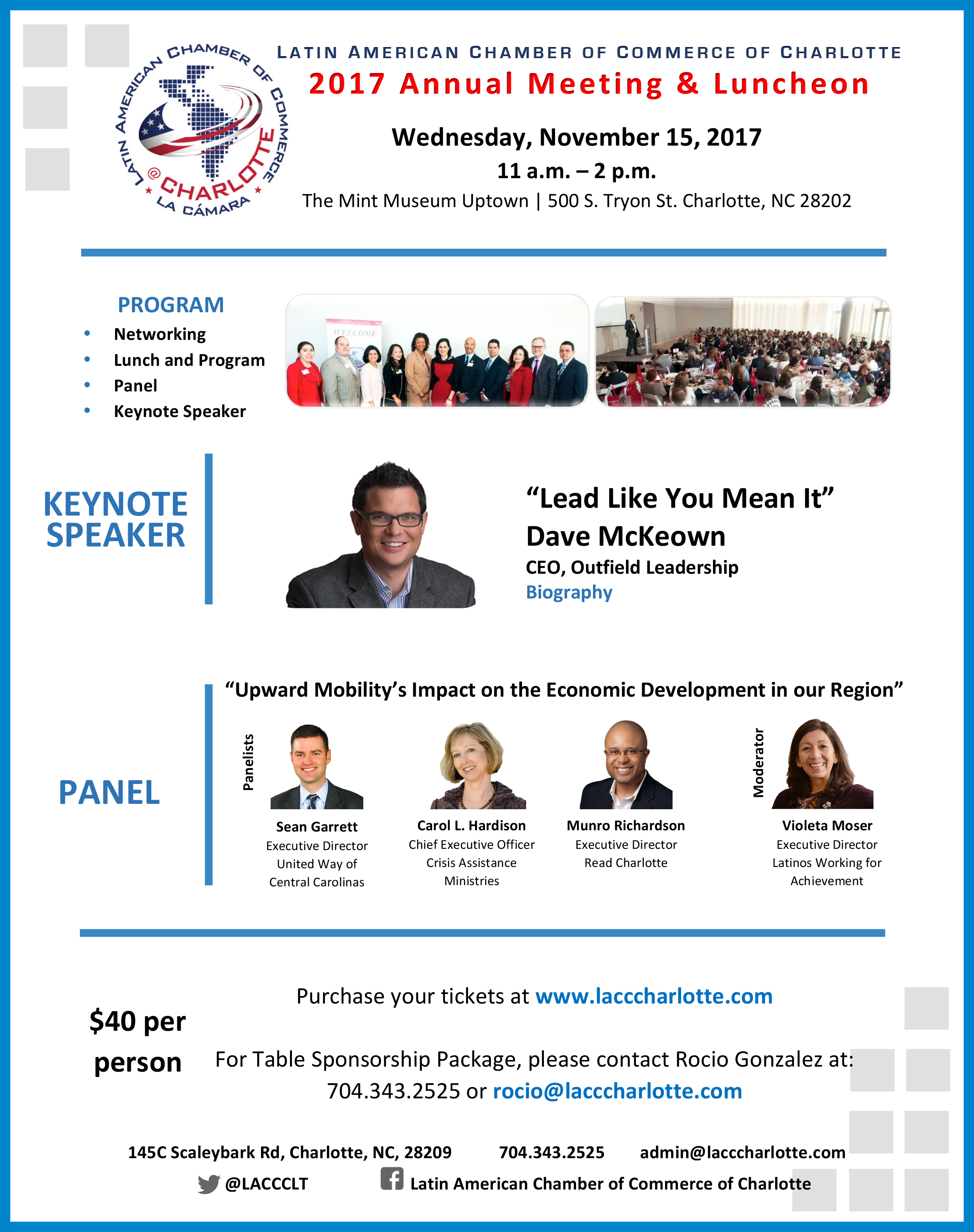 Latin American Chamber of Commmerce of Charlotte 2017 Annual Meeting & Luncheon @ Mint Museum Uptown | Charlotte | North Carolina | United States
