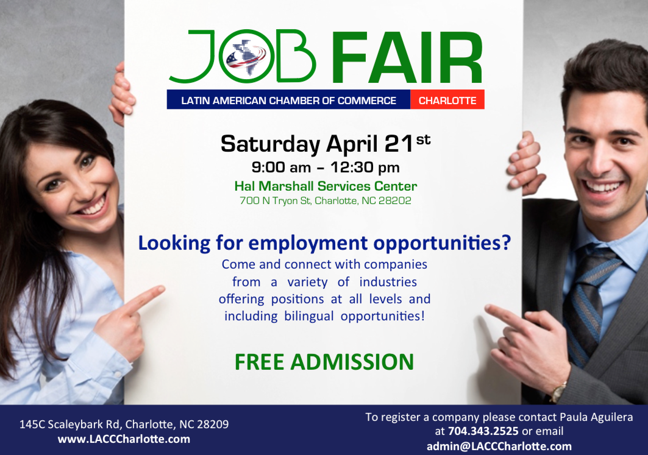 LACCC Job Fair @ Hal Marshall | Charlotte | North Carolina | United States