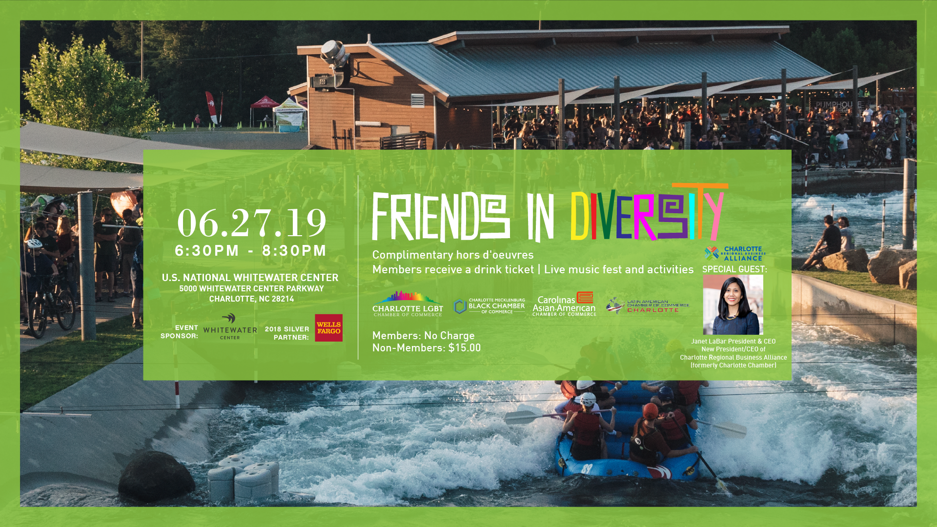"The Latin American Chamber of Commerce ""Friends in Diversity"" Multi-Cultural Networking Event @ U.S. National Whitewater Center 