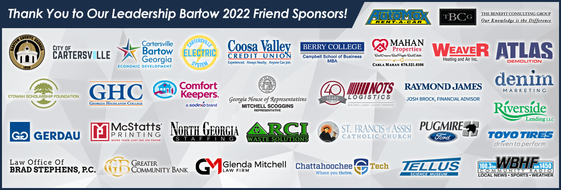 Thank You to Our Leadership Bartow 2022 Friends Sponsors!