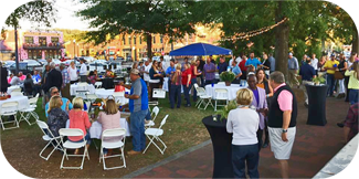 Large Crowd at Downtown Cookout