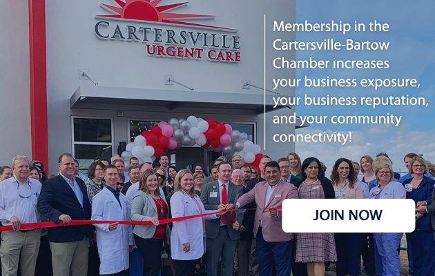 Membership in the Cartersville-Bartow Chamber increases your business exposure, your business reputation, and your community connectivity!