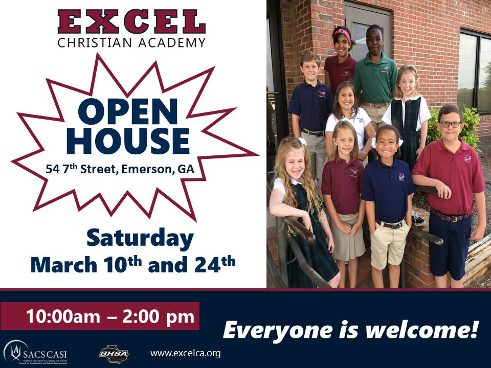 Excel Christian Academy Open House - Everyone is welcome!