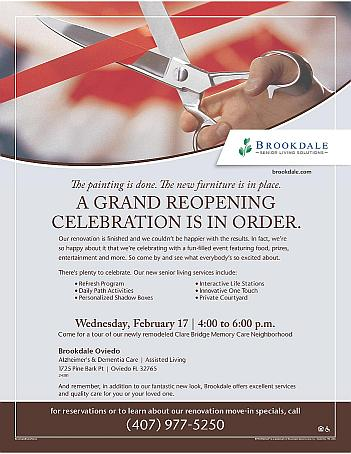 Professionals grand reopening of memory care feb 17 2016 events