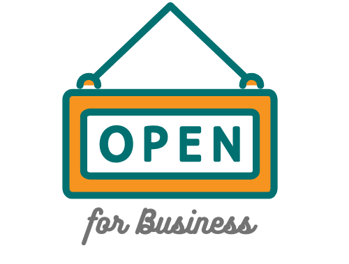 Open Sign - Link to list of businesses open