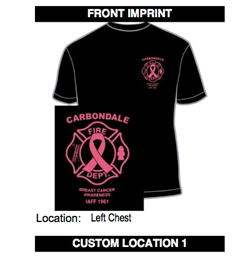 fb0cba705fde ... awareness for breast cancer. T-shirts are $20 each and are available in  a variety of sizes.
