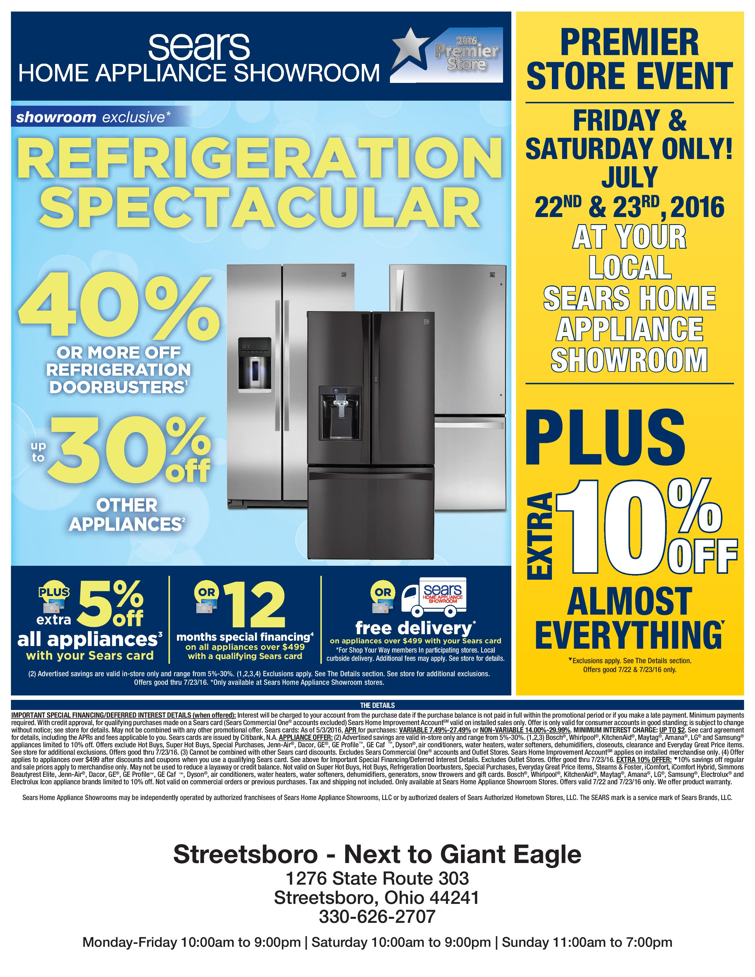 2016 Member Event Sears Home Appliance Showroom Premier