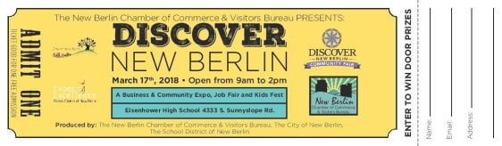 Free Admission Tickets for Discover New Berlin 2018