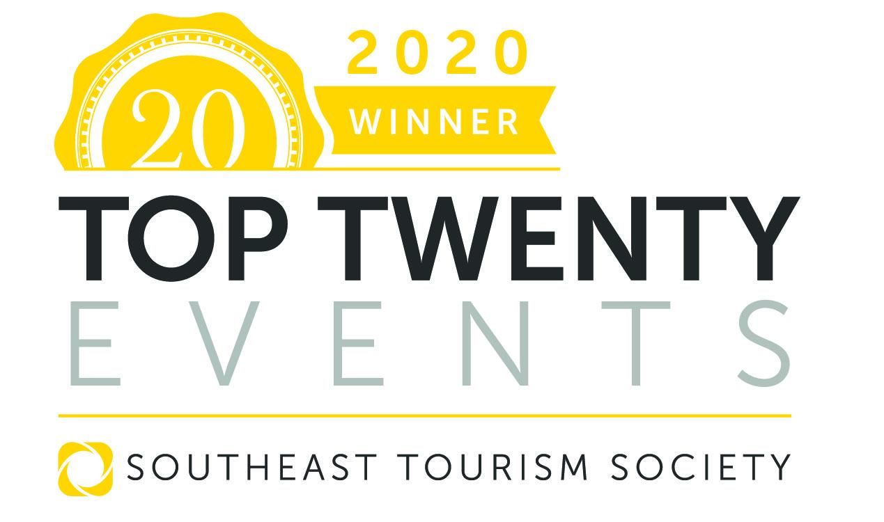 2020 Top Twenty Southeast Tourism Society Winner