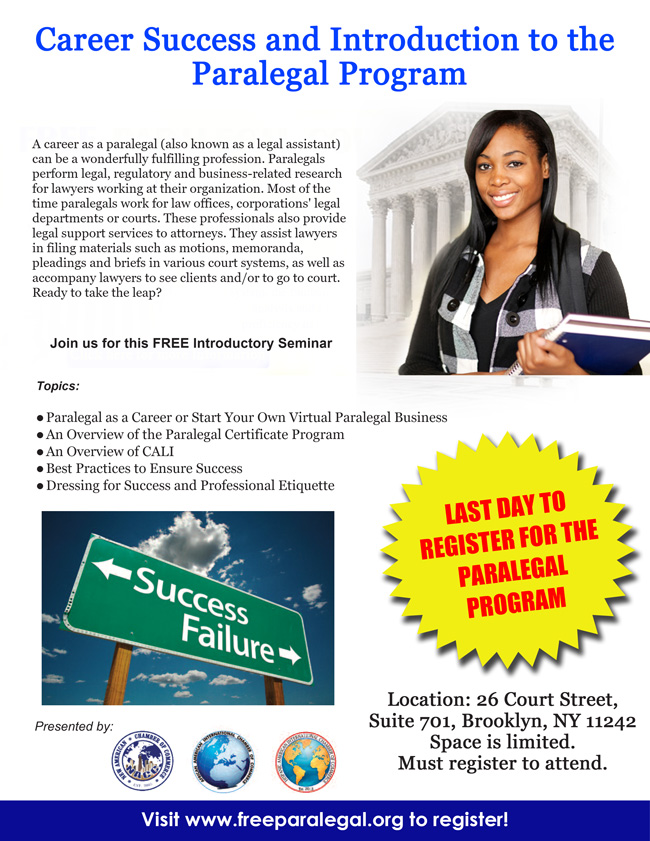 Introduction To The Paralegal Certificate Program Career Success