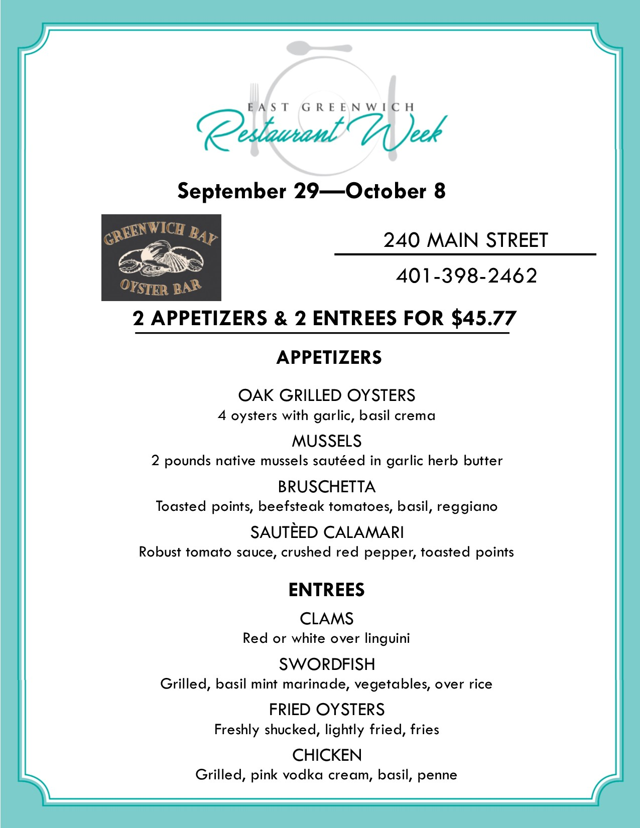 east greenwich restaurant week