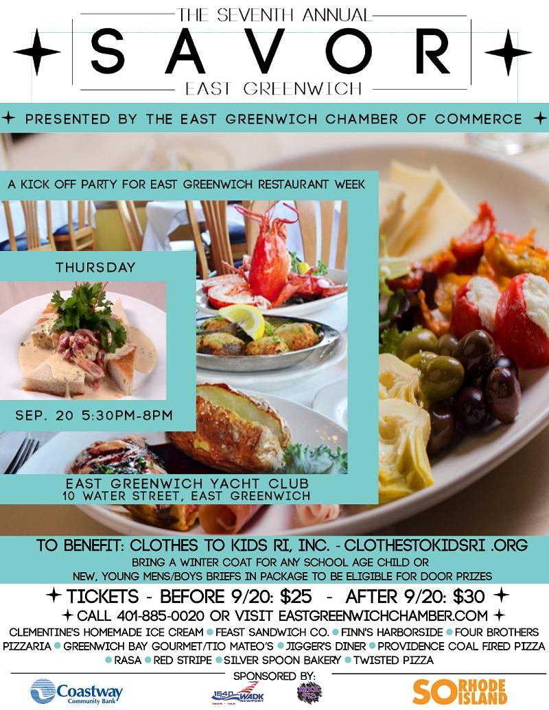 Savor East Greenwich Restaurant Week Kick-Off Party 2018