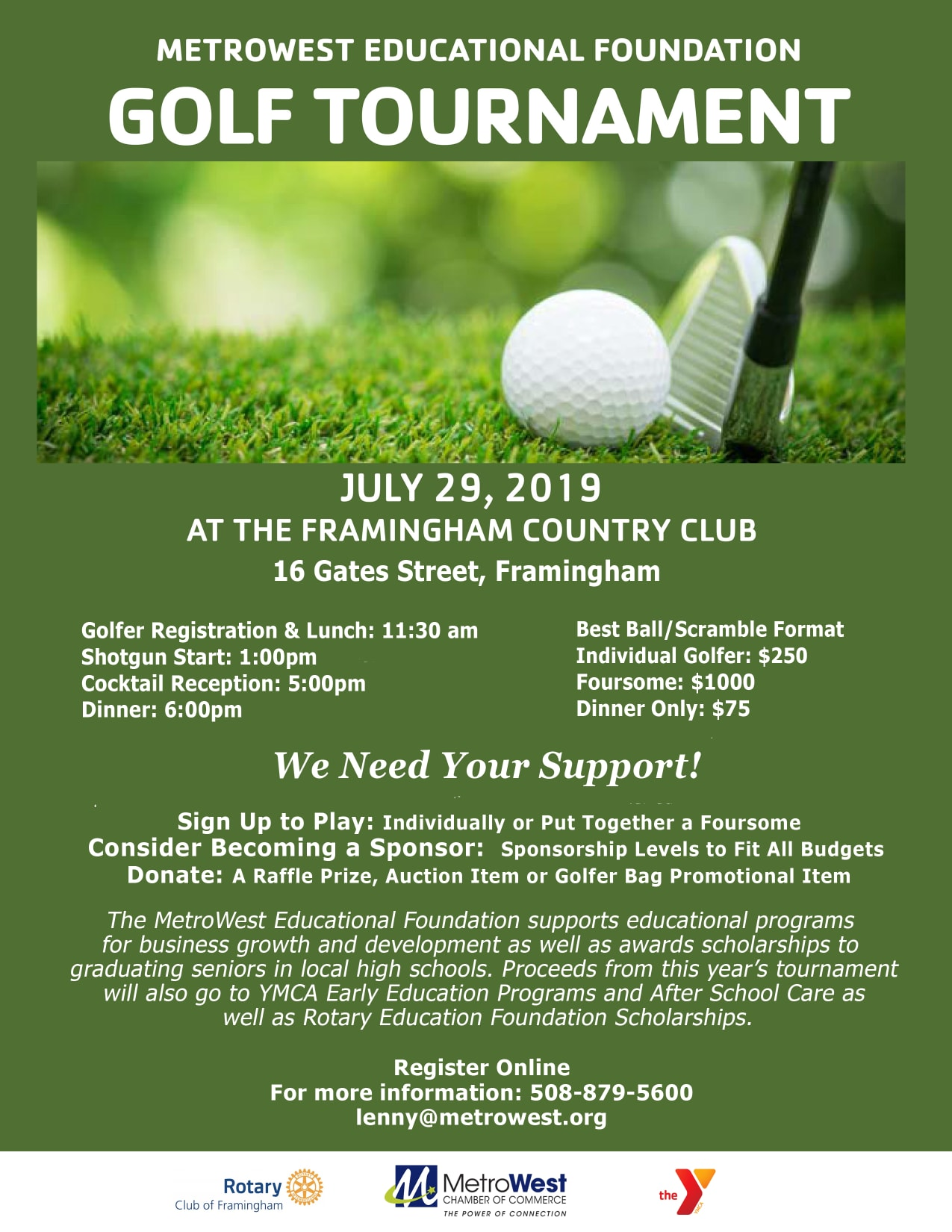 843a8118b4 MW Ed Foundation Golf Tournament - MetroWest Chamber of Commerce, MA