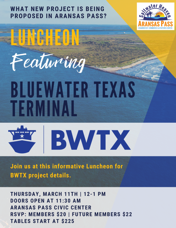 Luncheon Featuring Bluewater Texas Terminal