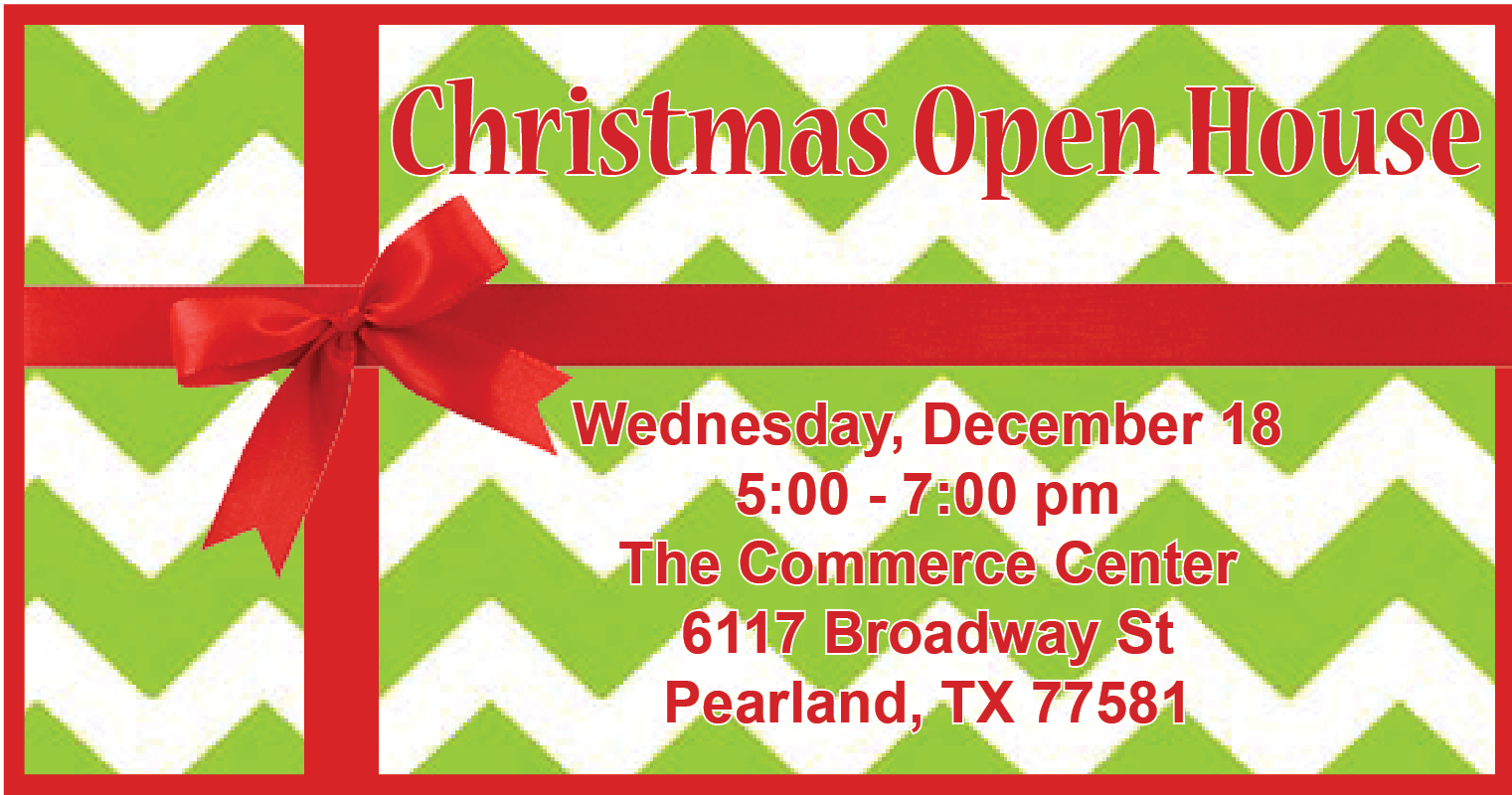 Christmas Open House.Chamber Christmas Open House Dec 18 2019 Pearland