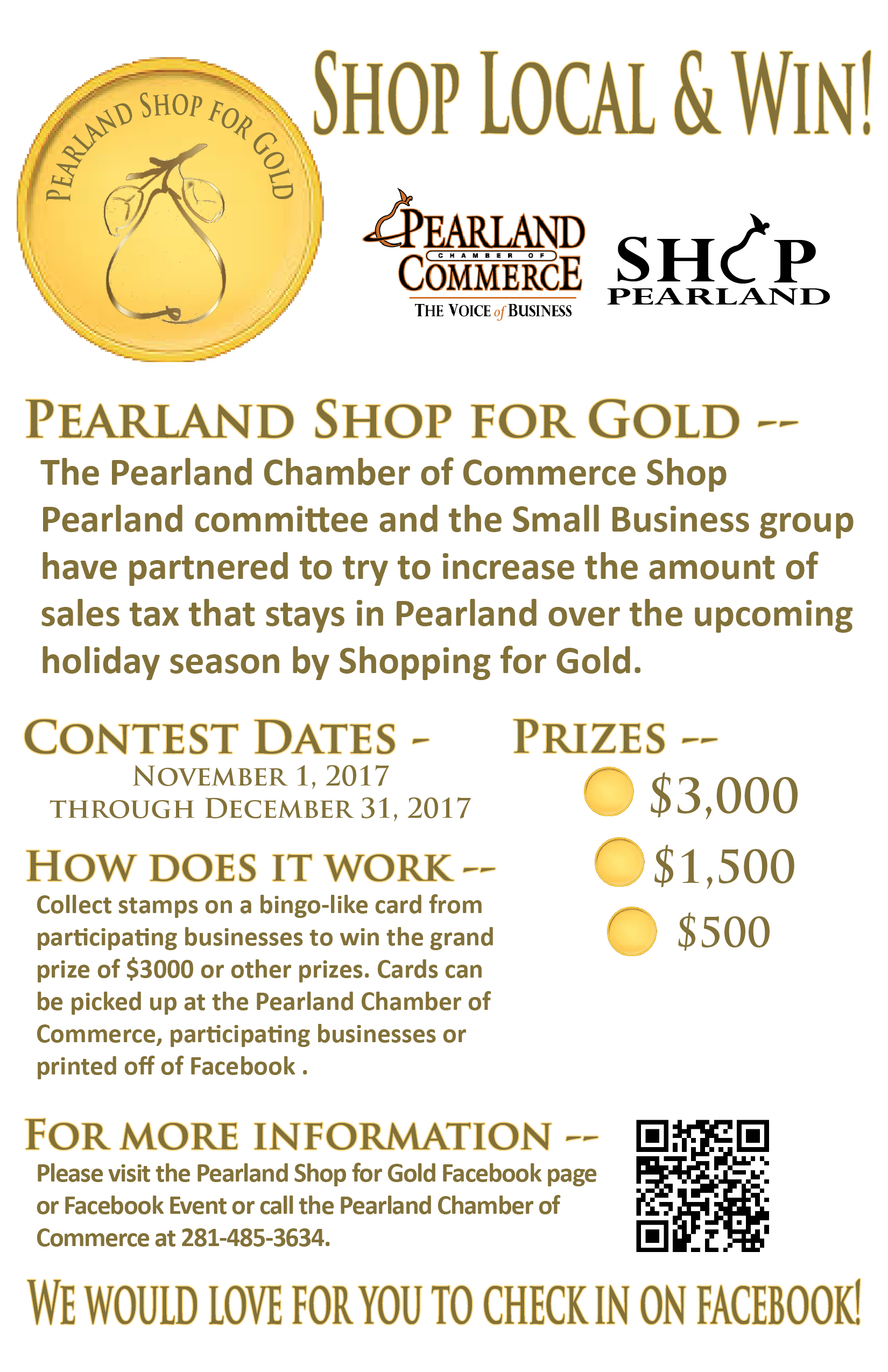 pearland shop for gold contest nov 1 2017 to dec 31 2017