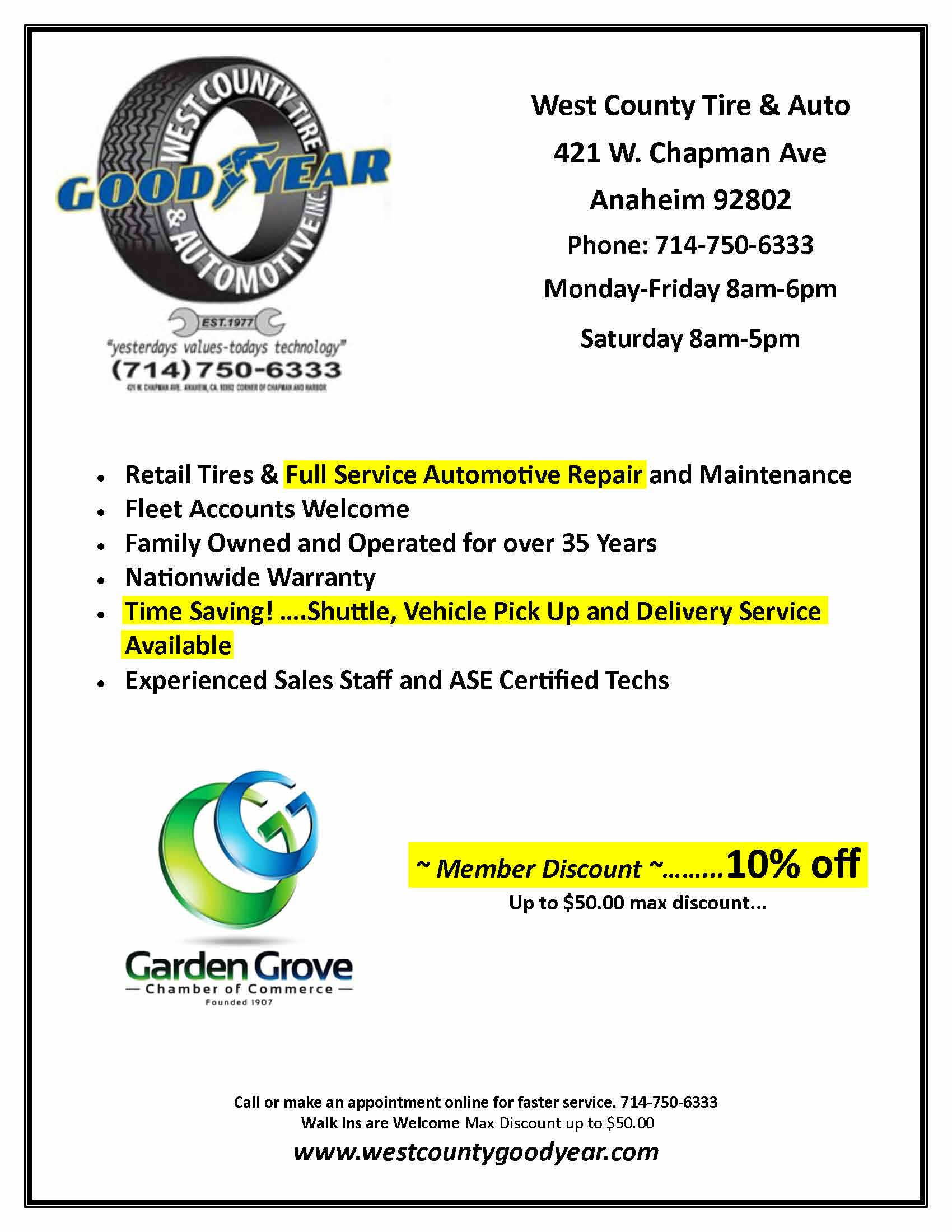 Contact the Chamber for more information regarding these discounts!