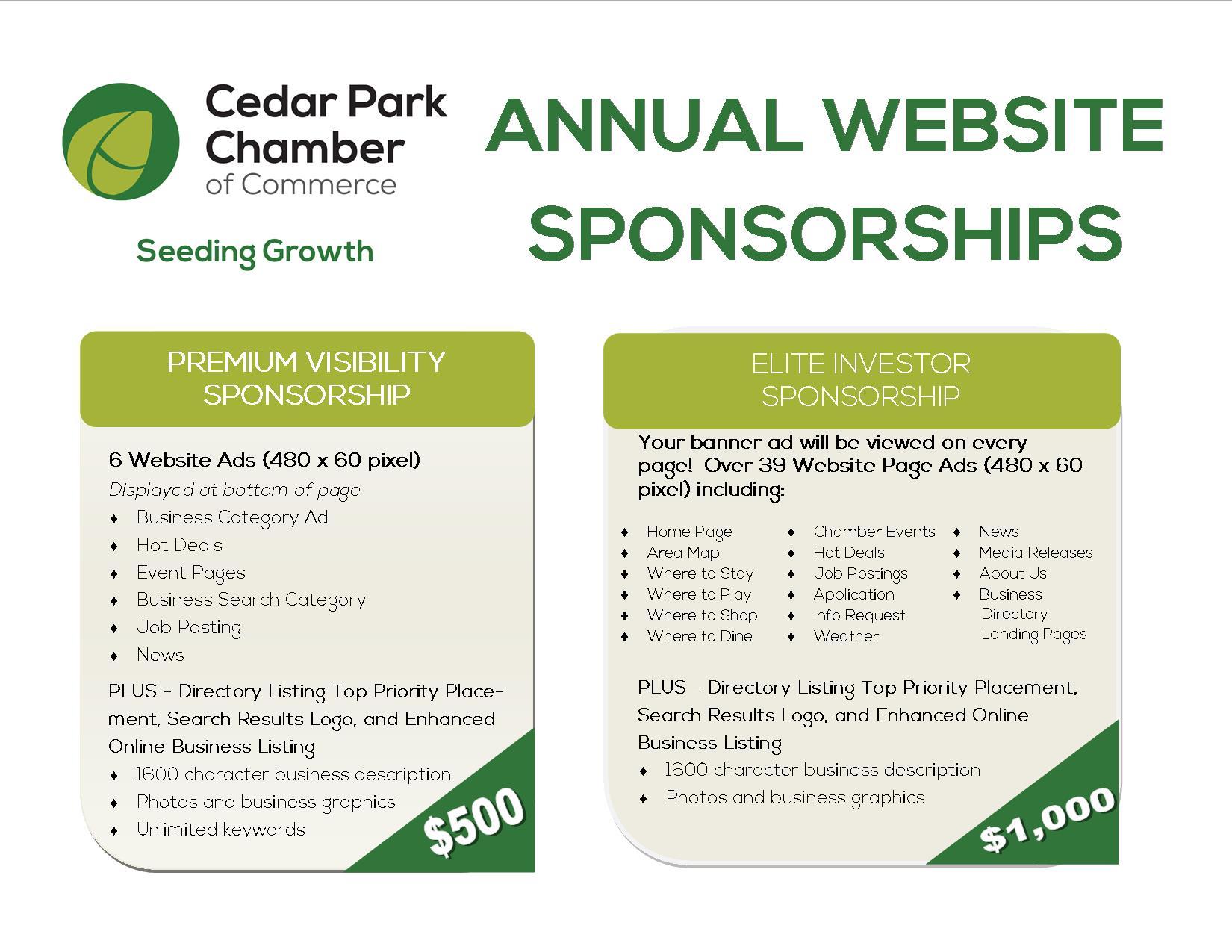 Website Sponsorships 2017