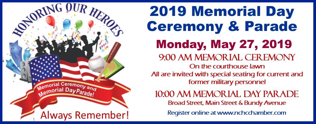2019 Memorial Day Ceremony & Parade