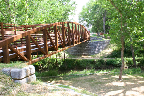 Walking Bridge on the Rails to Trails Greenway in Hopkinsville