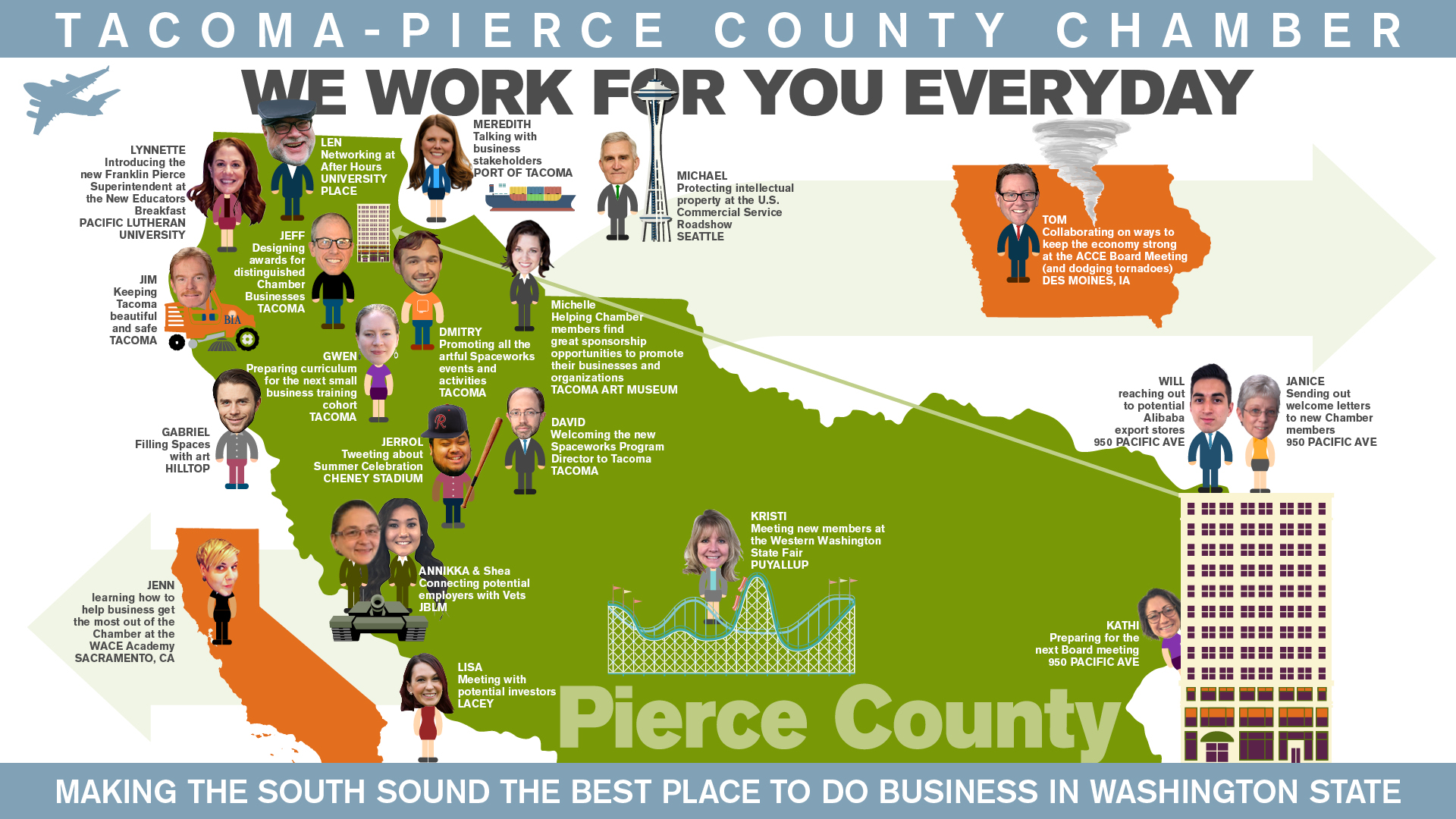 We work for you everyday graphic Tacoma-Pierce County Chamber