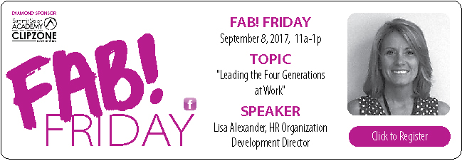 FAB! September 2017 Luncheon with Lisa Alexander