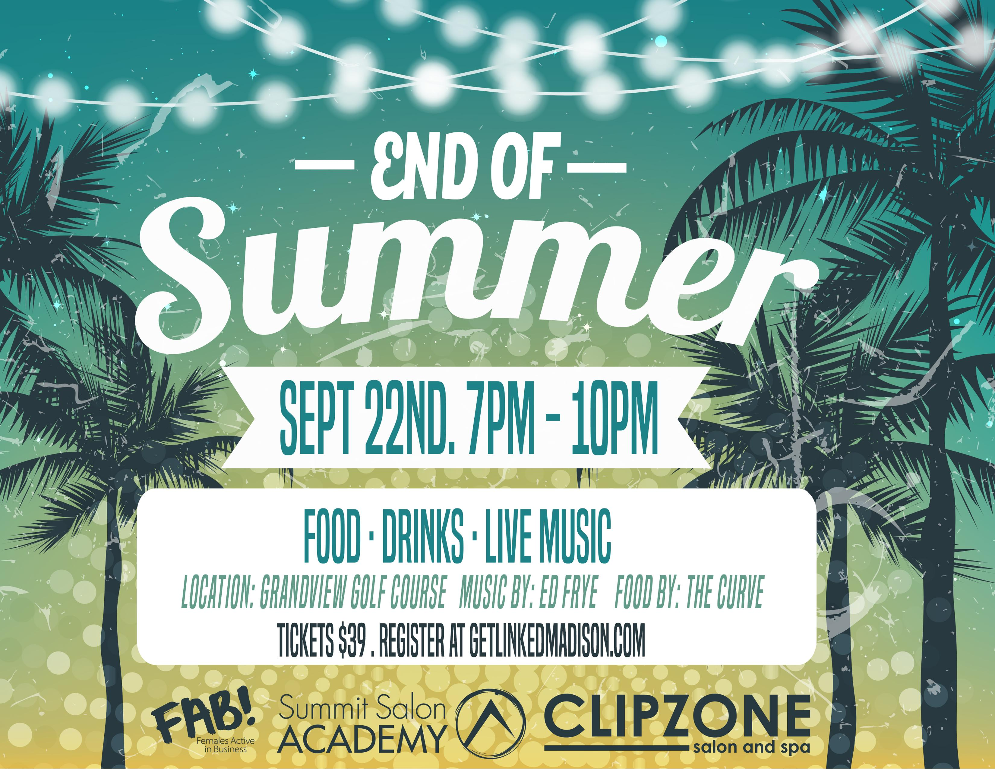 FAB! End of Summer Party Sep 22 @Grandview