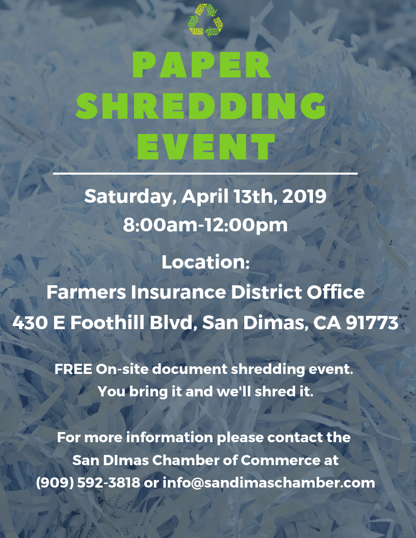 San Dimas Free Paper Shredding « Local Loyalty Rewards