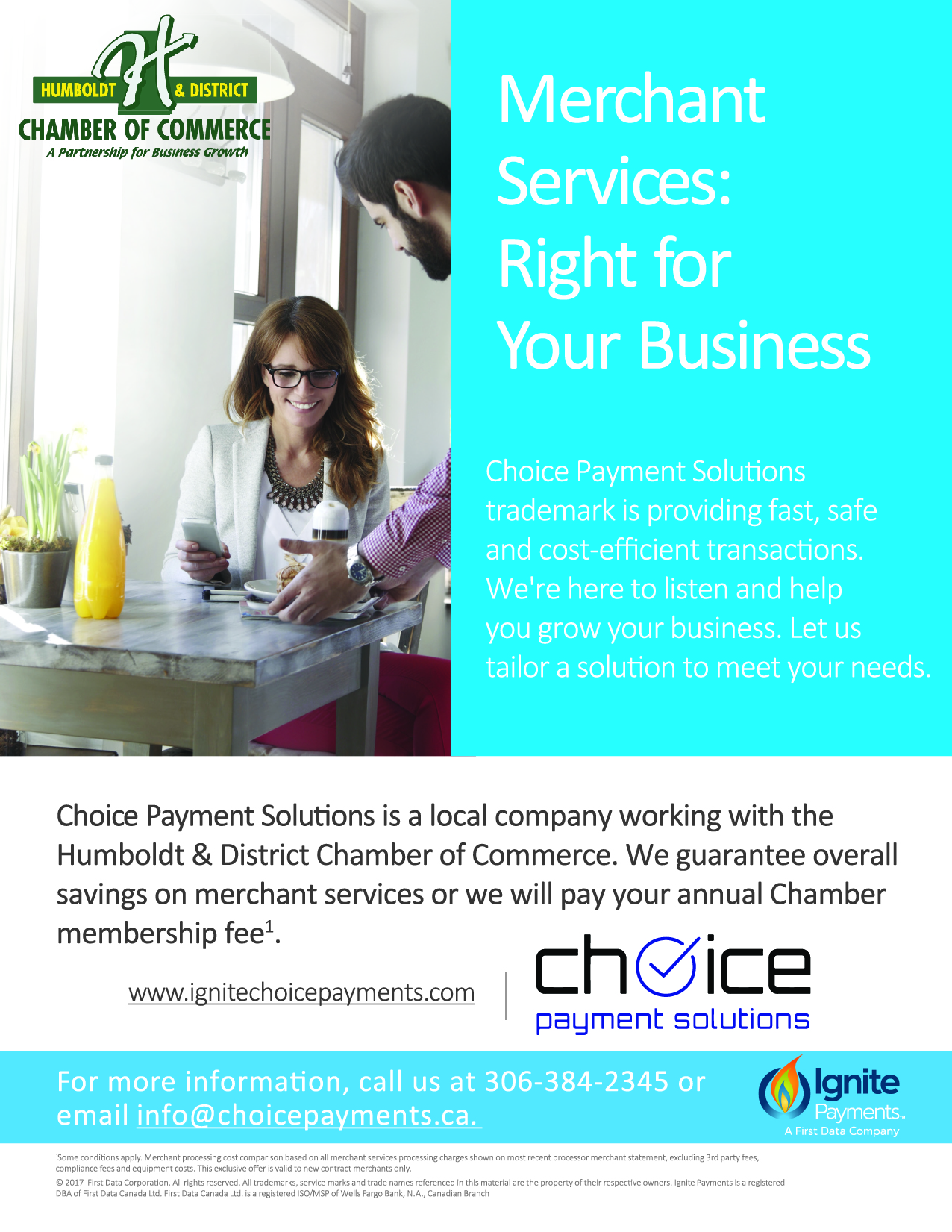 First Data offer the payment options your customers prefer, Payment solutions for Chamber Members