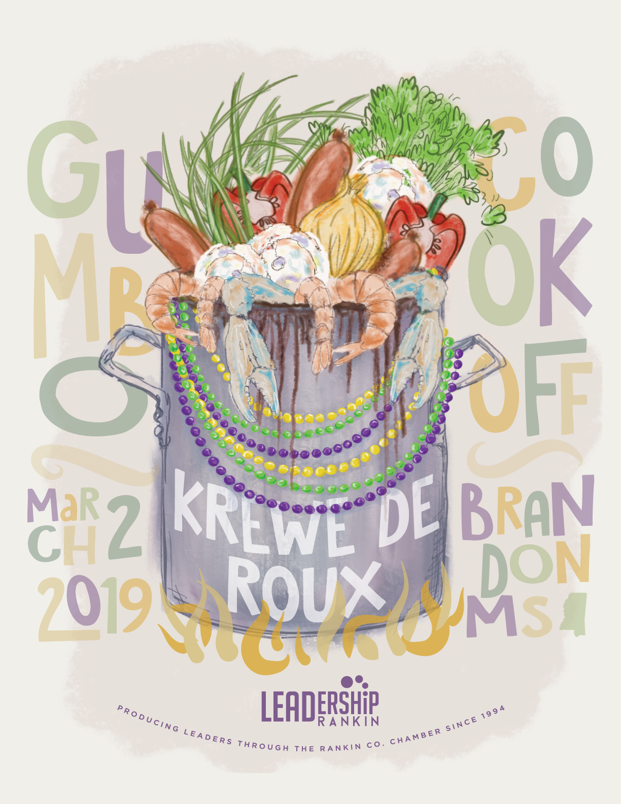 Krewe de Roux Mardi Gras Parade and Block Party and Gumbo Festival