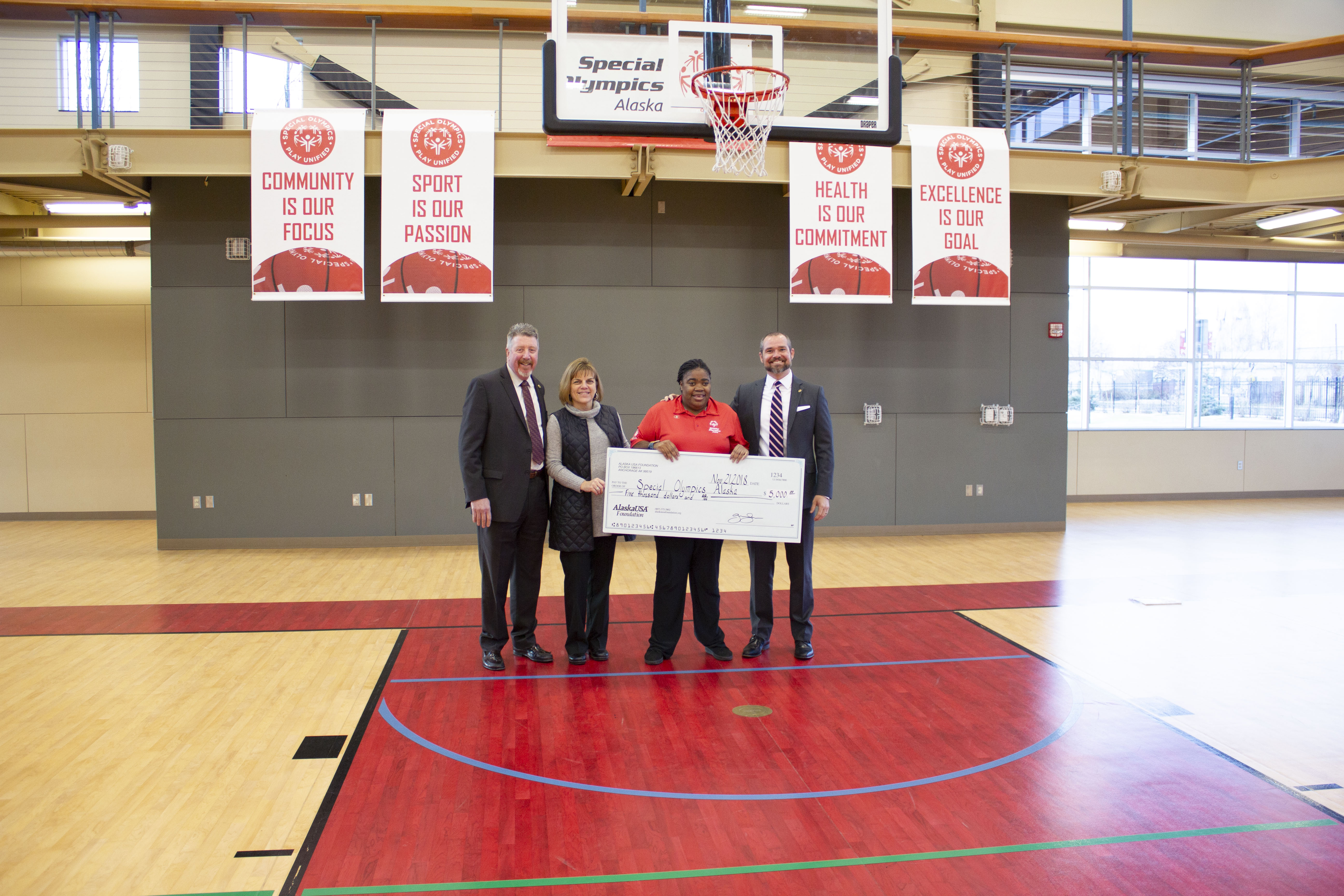 $5,000 to Special Olympics Alaska to help athletes find joy, confidence, and fulfillment through year-round sports training and athletic competition in a variety of Olympic-type sports.