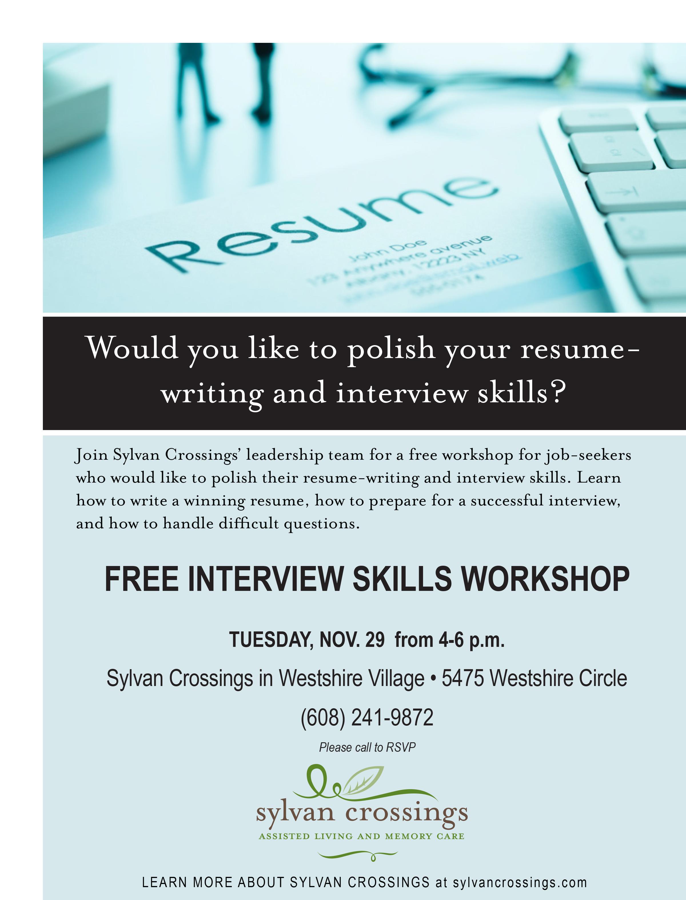 polish your resume-free interview skills workshop