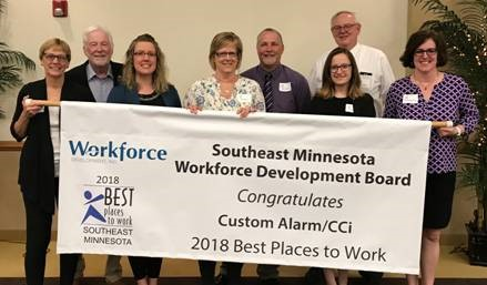 Custom Alarm Receives Best Place to Work in SE MN Honor