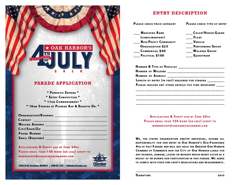 4th of July Parade Application